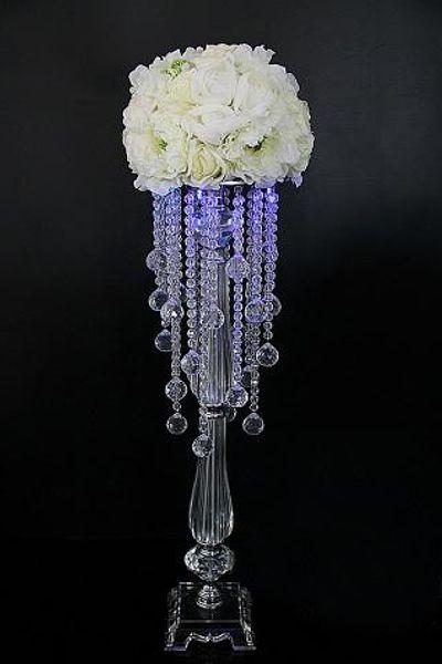 Wholesale Elegant Fashion acrylic acrylie decorative Flower Vase, Tall Flower Vase for Table, Flower vase for wedding decoration