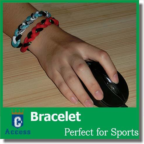 fashion health titanium silicon balance energy handmade bracelets