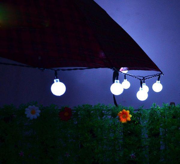 Luci a LED solari per Halloween Christmas Decoration Lamp Festival Natale Outdoor Light String Tree Decor con batteria