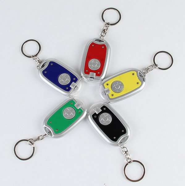 Wholesale plastic Keychain lights LED Keychain lights creative promotional advertising lamp