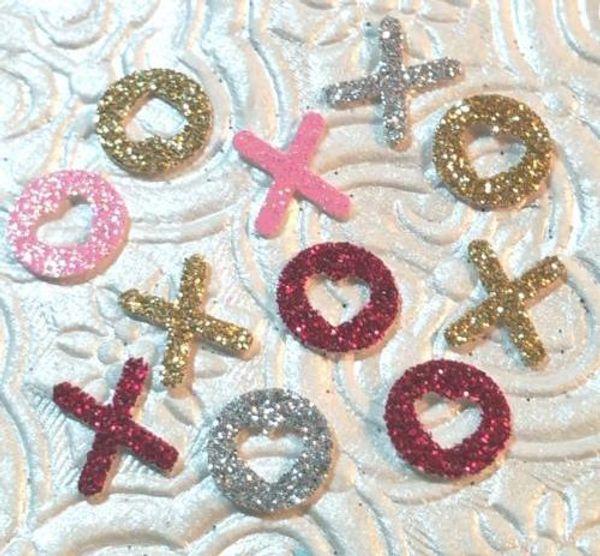 150pcs Custom glitter Hugs n Kisses Love XOXO hearts Confetti wedding table scatters Christmas bridal shower bachelorette party decorations