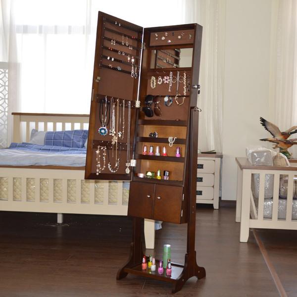Dressing Mirror Bedroom Mirror Cabinet Lockers Pastoral Body Length Mirror  Cabinet Jewelry Cabinet Storage Cabinet
