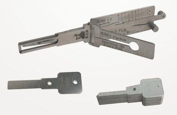 Free shipping LISHI HU66 V3 2-in-1 Auto Pick and Decoder for Audi Ford VW Porsche Seat Skoda locksmith lock pick tool