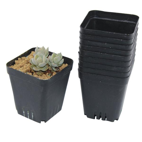 100pcs 6.5x6.5cm Flower Pots Mini Flowerpot Garden Unbreakable Plastic Nursery Pots for Succulent plants freeshipping