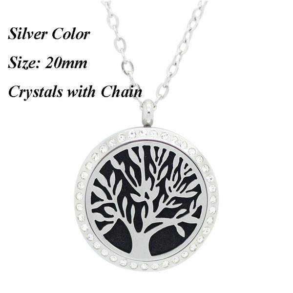 20мм серебро камень