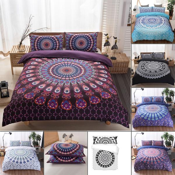 New free shipping New 3pcs Mandala Duvet Cover Queen Quilt Comforter Cover Bohemian Bedding Set Twin Full Queen King Set