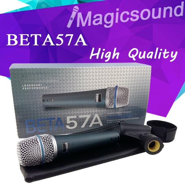 New High Quality Beta 57a !! Vocal Karaoke Handheld Dynamic Wired Microphone Super-cardioid Microfone Beta57 Beta 57 A