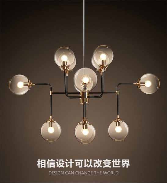North Europe style design Modo Magic Bean Pendant Lamps 12 Globes Glass lampshade MODO DNA Pendant Lights for coffee clothing