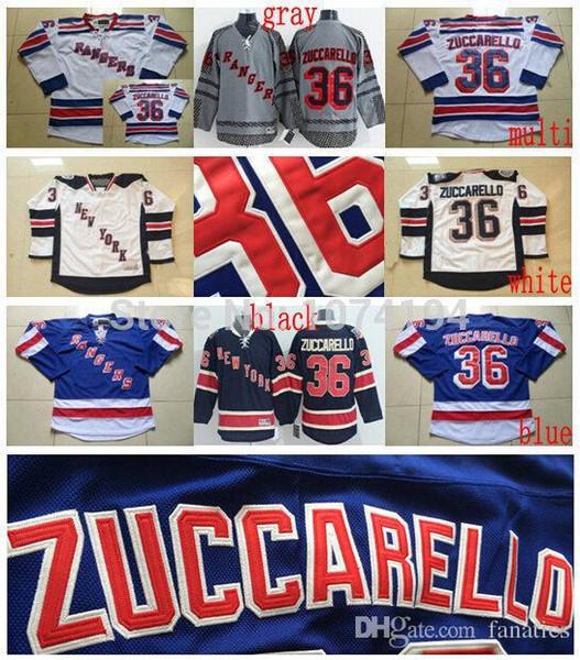 NEW YORK RANGERS Zuccarello Hockey Jersey #36 Mats Zuccarello M L XL 2XL 3XL