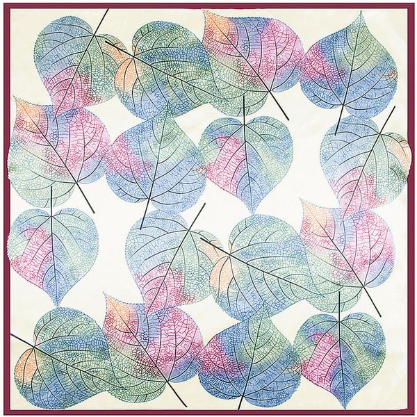 Atacado- 90cm * 90cm novo cachecol mão-pintado abstrato pintura a óleo imitação lenço de seda toalha