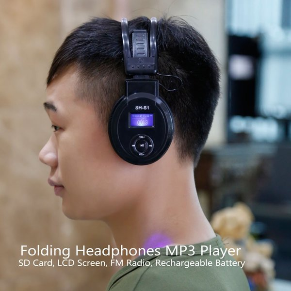 Auriculares calientes SH-S1 Auriculares inalámbricos con audífonos plegables con pantalla LCD 3H-866 Auriculares con radio FM Tarjeta TF Reproductor de música Mp3 deportivo