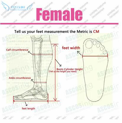 여성 사용자 정의 크기