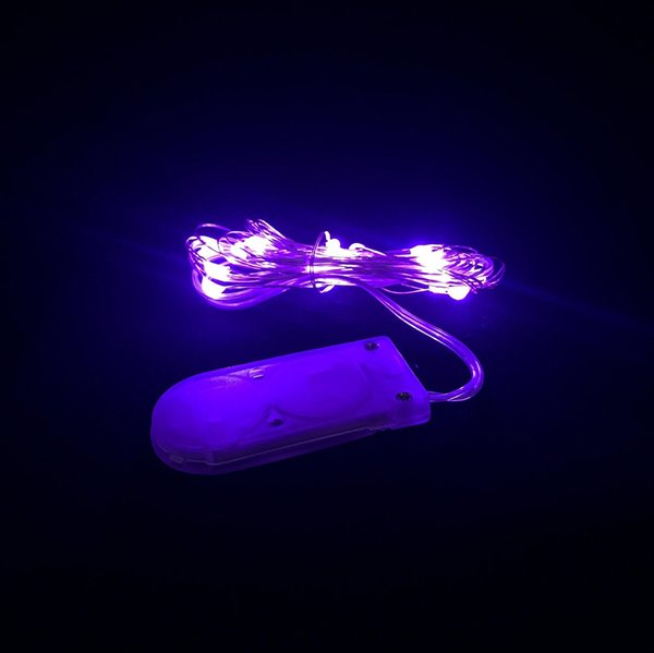 CR2032 bouton à piles 2M 20LED micro LED lumière de chaîne, bande de lumière de fée menée imperméable pour le mariage de partie