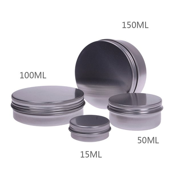 best selling 15ML Makeup Aluminium Jar Tin Pot Nail Art Lip Gloss Empty Cosmetic Container Screw Thread Maquillage 1000pcs lot