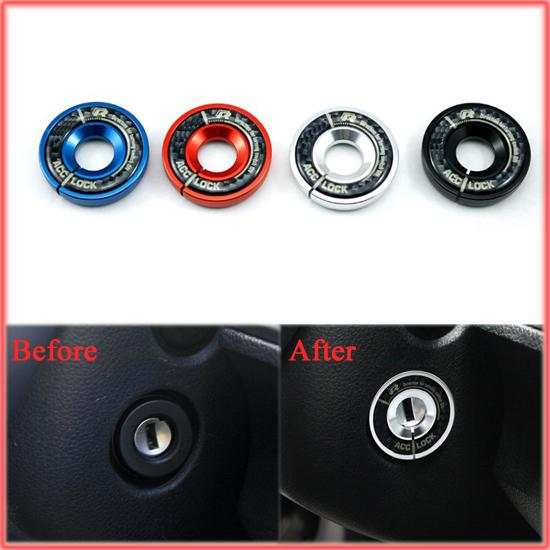 Aluminium Alloy Ignition Key Ring Direction Car Styling For AUDI A1 A3 A4 Q3 TT S3 TTS BLACK RED BLUE SILVER