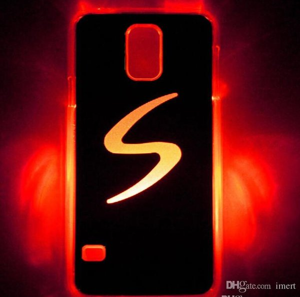 New LED Cell Phone Cases for Samung galaxy S5 LED Lighted Cover Cases LED Cell Phone Accessories Flash while Calling