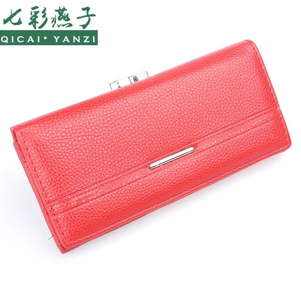 Wholesale- 2017 Women Purse Wallet New Lady PU Leather Handbag Fashion Clutch Zip Card Holder Wallets Top Quality Free Shipping N527