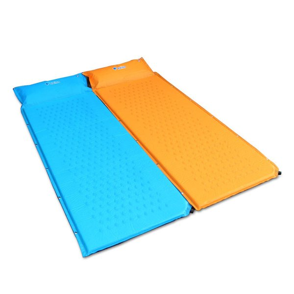 Al por mayor- Utralight Autoinflable Camping Mat 2Colors Outdoor Tent Bed Camp Pad Camping Single Inflating Mattress Mat
