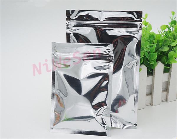 12x20cm 100pcs aluminum foil ziplock bag grip sealed zipper bag dust-free dry flower reclosable storage bag