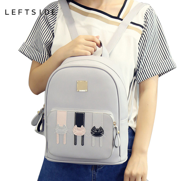 2017 school back packs Cartoon Cute Cat Ladies Backpacks Fashion Women Backpack cute Girls Bags for school Travel bags