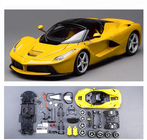 Christmas Sports Car.2019 1 18lamborghini Assembly Model Ferrari Assembled Sports Car Diy Simulation Alloy Automobile Model Toy Car Christmas Gifts For Birthday Gifts From