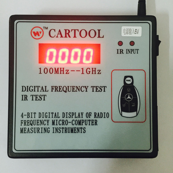 Carcode 100MHz-1GHz CARTOOL Car IR Infrared Remote Key Frequency Tester digital radio frequency counter detector