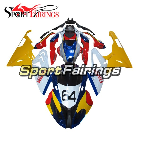 Fairings For BMW S1000RR2015-2016 15-16 Injection Plastics ABS Yellow White Red Fairings Motorcycle Fairing Kit Bodywork Fittings Cowlings