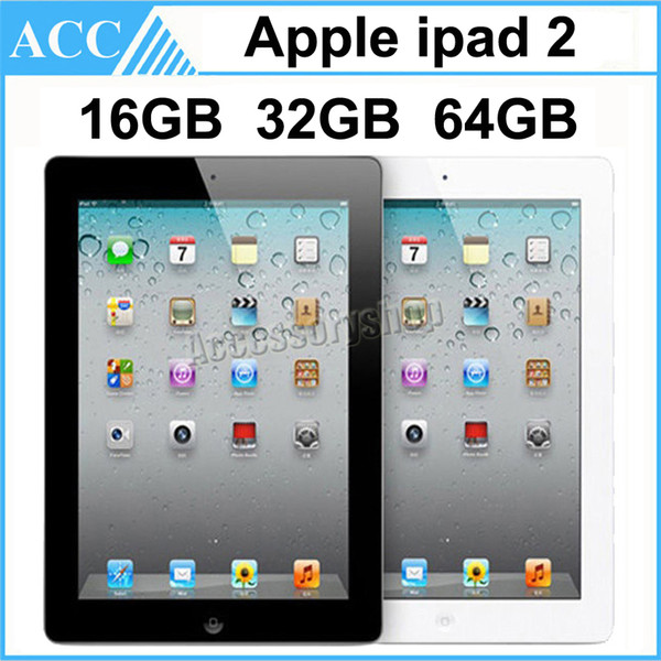 best selling Refurbished Original Apple iPad 2 WIFI Version 16GB 32GB 64GB 9.7 inch IOS Dual-core 1GHz A5 Chipset Tablet PC DHL 1pcs