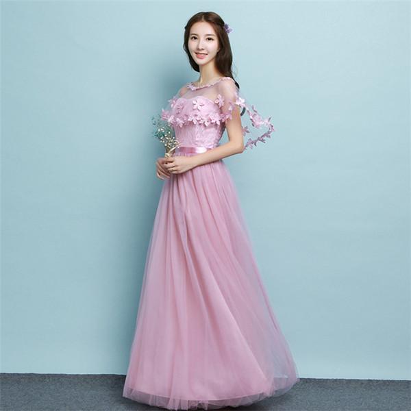 bb6cfbbb1ee4 Compre 2018 Nueva Lavanda Vestidos De Dama De Honor Largos Para Mujer  Fiesta De Graduación Cóctel Vestidos Elegantes De Noche Hermosos Vestidos  ...