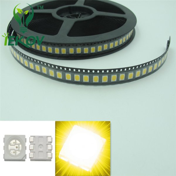 High Quality 5000pcs PLCC-6 5050 SMD Warm White led Super Bright Light Diode 2800-3500K For Bike DIY SMD/SMT Chip lamp beads