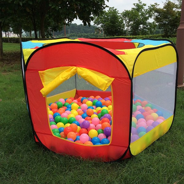 Wholesale-Play House Indoor and Outdoor Easy Folding Ocean Ball Pool Pit Game Tent Play Hut Girls Garden Playhouse Kids Children Toy Tent