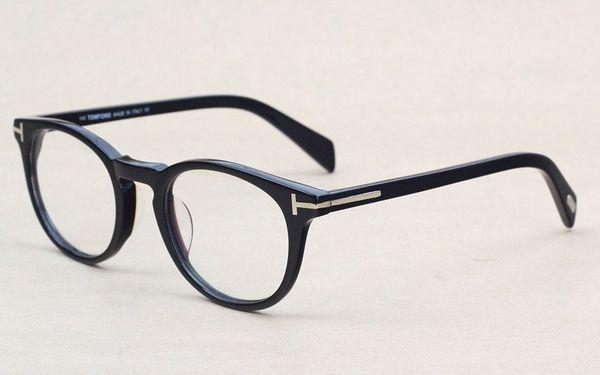 0cb8d5546b Classic Retro Clear Lens Optical Frames Glasses Brand Designer Men Women  Eyeglasses 6123 Vintage Plank Spectacle Myopia Eyewear Frame