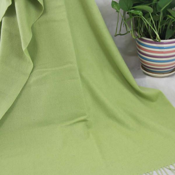 Nouveau doux écharpe en cachemire dames châle enveloppé femme 70X200CM cachemire 100% surdimensionné quatre-couche mode Plain Green 36068
