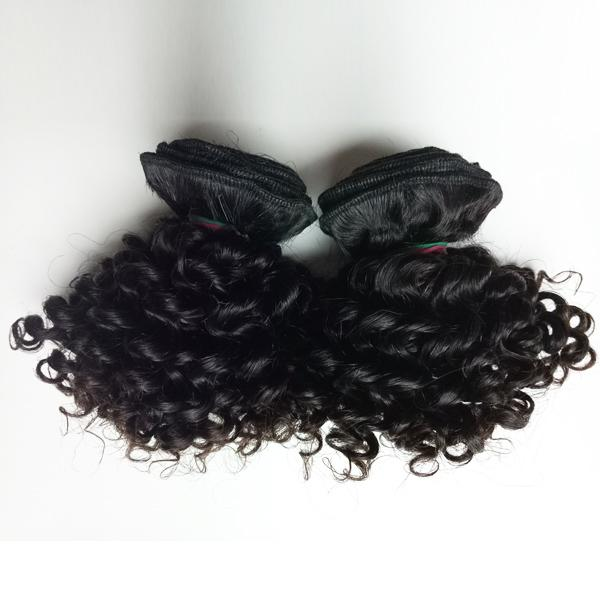 Brazilian Virgin Hair new style short 8-12inch double weft Human Hair 50g/pc 300g/lot Kinky Curly Factory Wholesale Indian remy hair