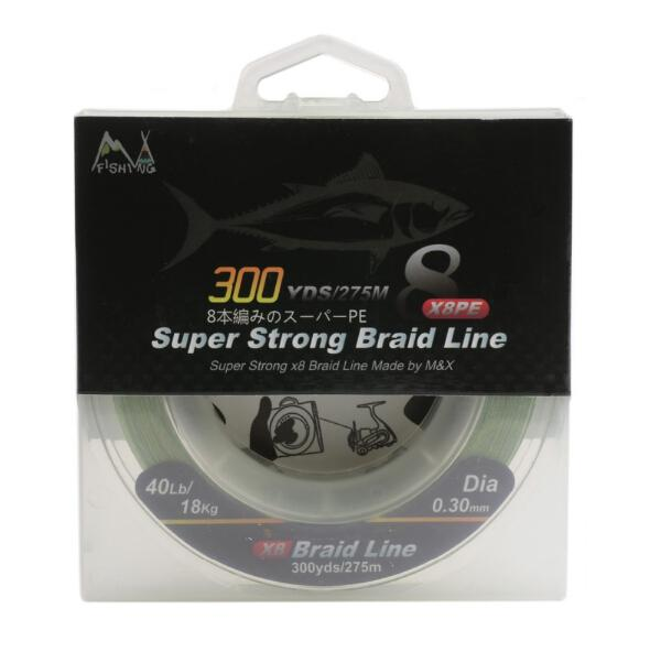 Wholesale- 300yds Weave x 8 Strands Braid Fishing Line Strong Braid Line 10lb free shipping