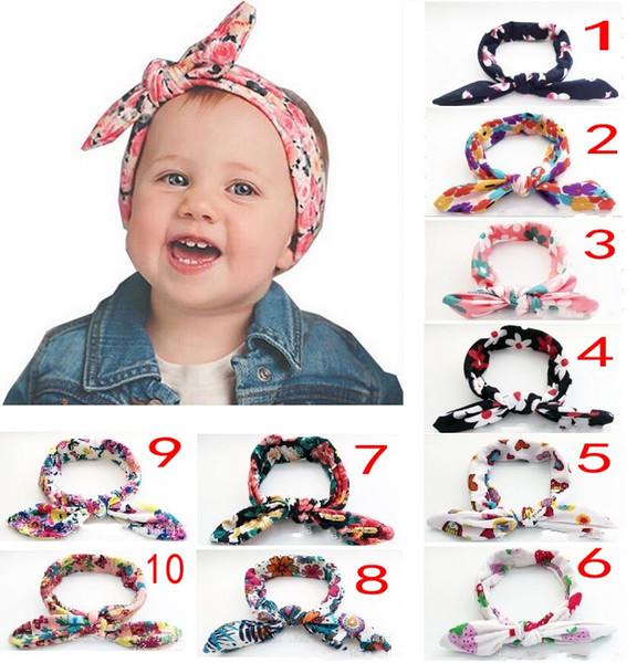 10 Farben Baby elastische Stirnband Knoten Krawatte Stirnband Headwrap Vintage Head Wrap Foto Prop Stretchy Knoten Mädchen Haarschmuck