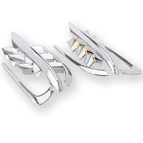 top popular Chrome Shark Gills Fairing Accents For Honda Goldwing GL1800 2001-2010 2021