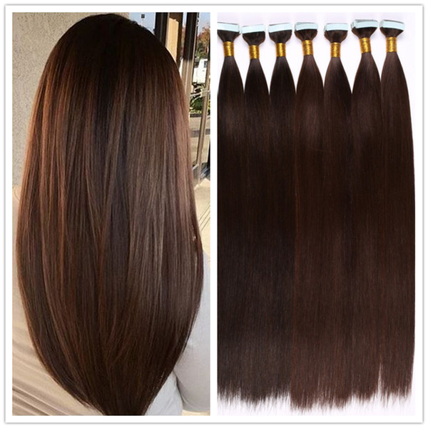 Wholesale 6a Human Tape In Hair Extensions Pack Brazilian Remi