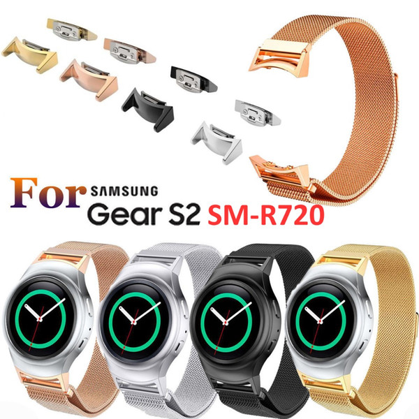 Wholesale-Milanese Loop For Samsung Gear S2 SM-R720,Stainless Steel Magnetic Milanese Band with Connector For Gear S2 RM-720 SMGS2MLC