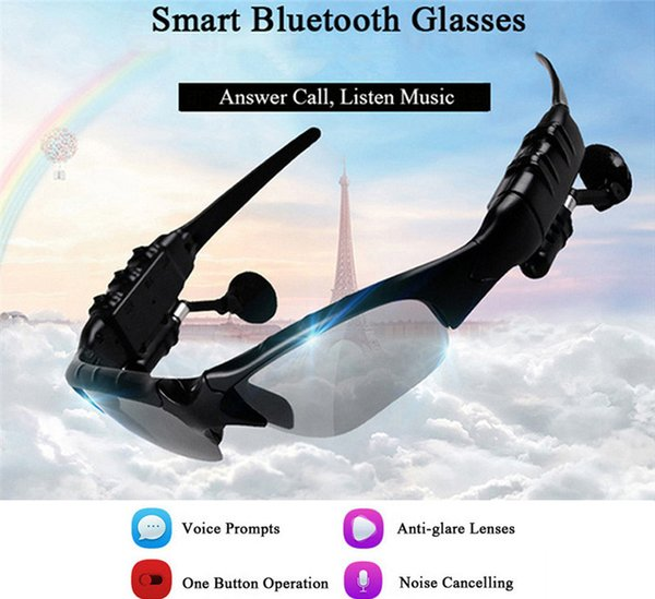 Newest Sunglasses Bluetooth Headset Wireless Sports Headphone Sunglass Stereo Handsfree Earphones mp3 Music Player With Retail Package