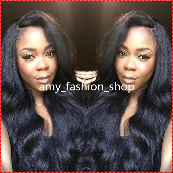2016 Virgin Brazilian Hair Silk Top Full Lace Wigs Cheap Human Hair Wavy Natural Hairline Glueless Wigs
