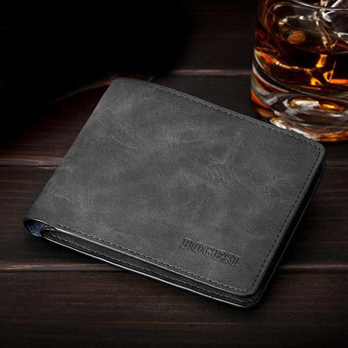 Wholesale-Famous Brand Men Wallets Soft Leather Money Purse Fashion Man Change Purse Horizontal Vertical Wallets Carteira Card Holders