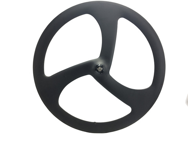 50mm carbon 3 spoke bike wheel 50mm depth clincher carbon tri spoke bicycles wheels for track/road bike wheel 700C