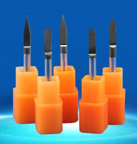 5pcs/lot black coating 30 40 45degree metal carving sharp V CNC wood cutter Flat Bottom Engraving Bits router bit