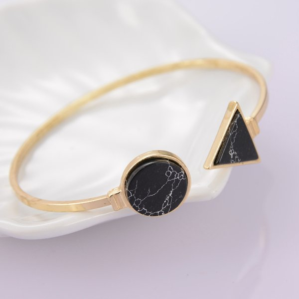 Vintage Turquoise cuff bangles jewelry round triangle bracelets for women free shipping gold plated bracelets pave