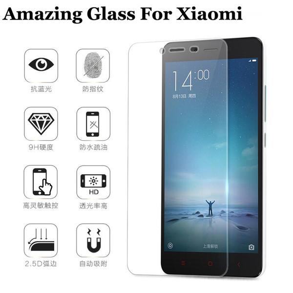 Toptan-Temperli Cam Ekran Koruyucu için Xiaomi Redmi Not 3 2 Başbakan Not 3 Pro Mi4 Mi4C Mi4i Mi3 Note3 Note2 Redmi3 Koruyucu Film