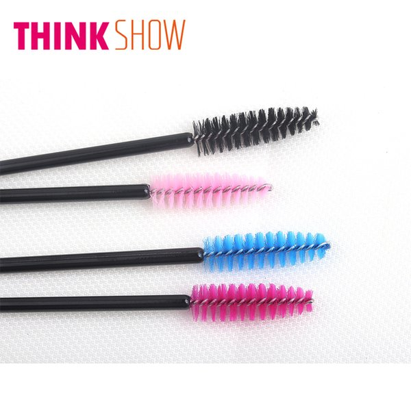 50 Pcs Disposable Eyelash Brush Mascara Makeup Applicator Wands Brushes for Individula Eye Lashes Free Shipping