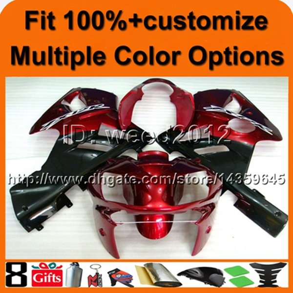 23colors+8Gifts Custom Injection molded Tank cover RED ABS article ZX12R 2002 2003 2004 aftermarket motorcycle fairing for Kawasaki Ninja