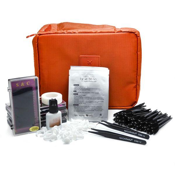 Wholesale-New Professional Portable Eyelashes Extension Kit False EyeLash Lashes Makeup Set ,eyelash extension kit