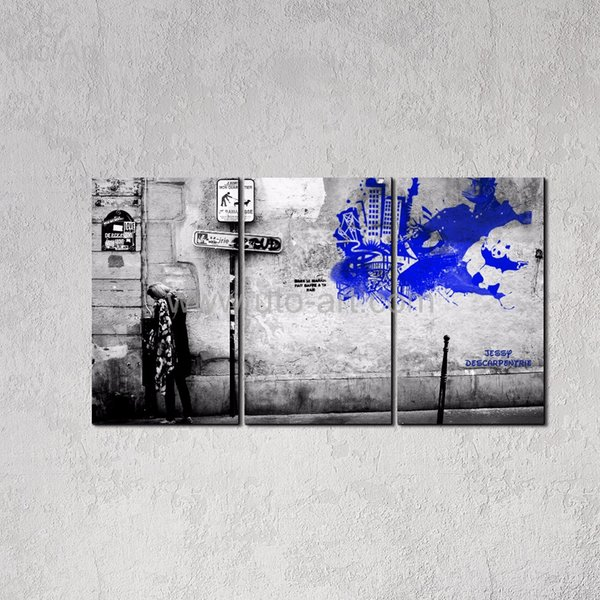 New Classical Home Decor Painting Wall Graffiti Banksy Canvas Art Prints Decorative Pictures Photo Printing for Living Room